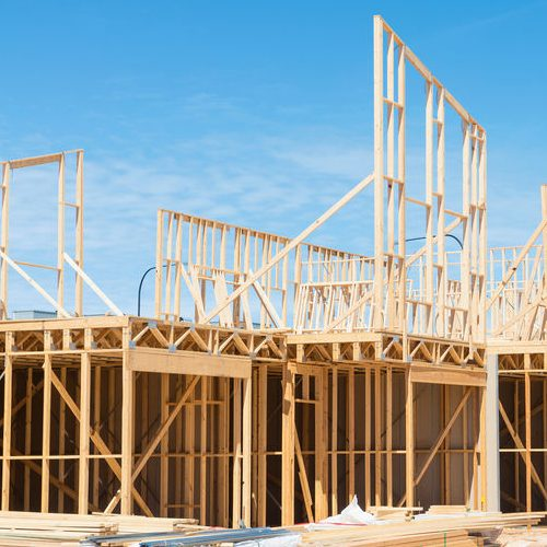 New Residential Construction Home Framing.